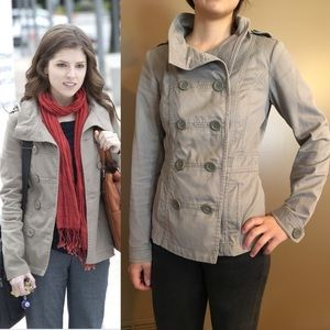 Tan jacket ASO Anna Kendrick from H&M